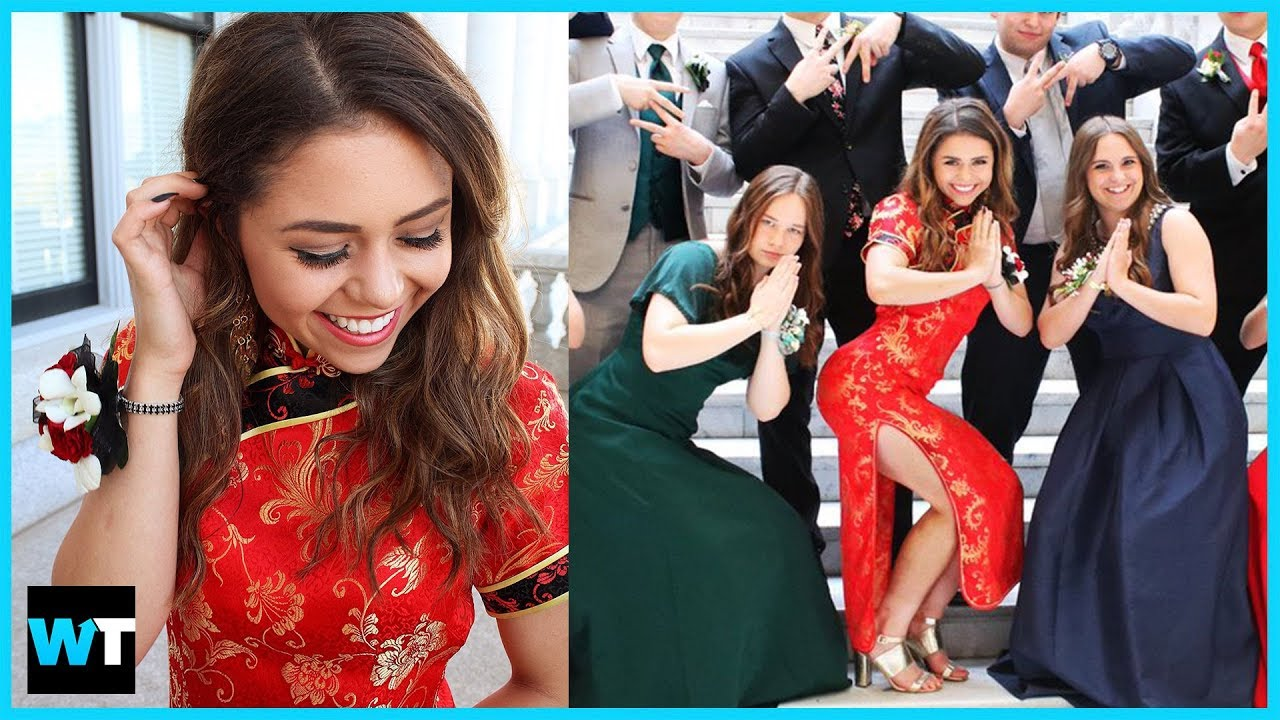 c0435c50b Was Teen's Chinese Prom Dress RACIST?! | What's Trending Now! - YouTube