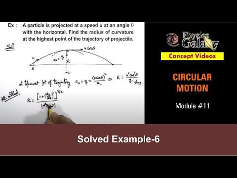 11  Physics   Circular Motion   Solved Example-6 on Circular Motion   by  Ashish Arora
