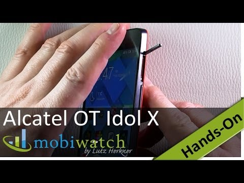 "Hands On The Alcatel One Touch Idol X: 5"" Full HD, Dual SIM, 13 MP Cam"