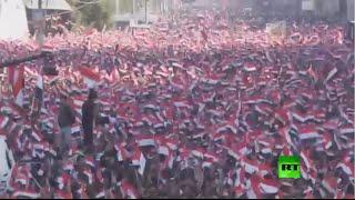 مظاهرة حاشدة في بغداد بقيادة مقتدى الصدر