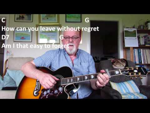 Guitar: Am I That Easy To Forget (Including lyrics and chords)