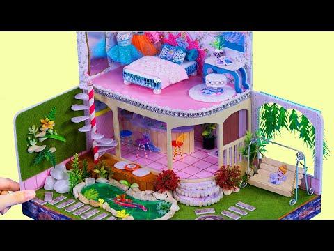 DIY Miniature Dollhouse ~ CINDERELLA Room Decor ~ Full house