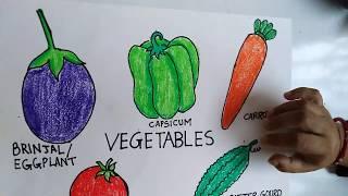 vegetables easy draw english montessori