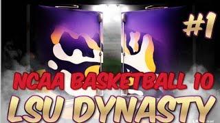 NCAA Basketball 10 | LSU Dynasty - #1 Preseason NIT Tournament (S01E01)