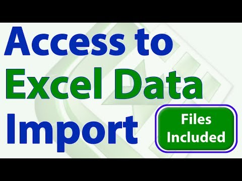 Access To Excel Data Import
