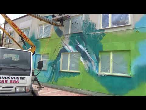 Wykonanie Muralu 21 - 25 Września 2017. MOK JEZIORANY