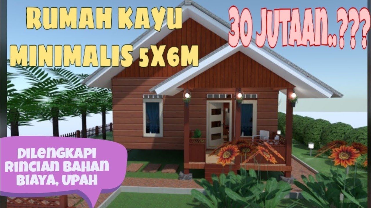 Minimalist Wooden House Design 5x6 Meters Wooden House In The Village Youtube