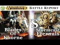Blades of Khorne vs Stormcast Eternals Age of Sigmar Battle Report - War of the Realms Ep 192