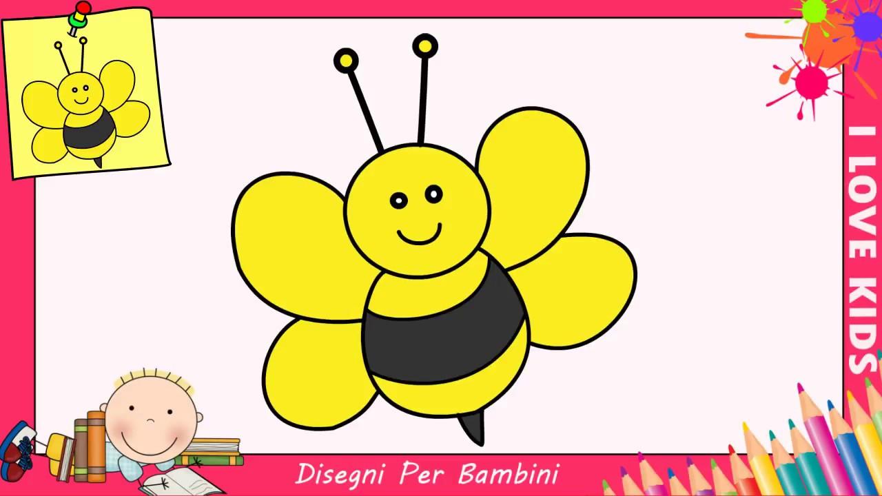 come disegnare un ape facile passo per passo per bambini 1