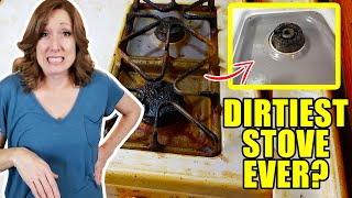 How to Clean Stove | Over a Decade of Grease Build Up Gone!😮