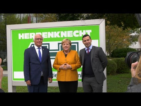 Visit of the Chancellor Dr Angela Merkel at Herrenknecht in Schwanau_ENG