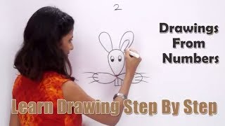 Drawing From Number 2 | How to Draw with Numbers | Fun with Numbers | Learn Drawing for Kids
