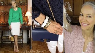 Favorites, March: Tops, Shoes, Bags, Bracelets, Lipstick, DVD / Classic Fashion Over 50