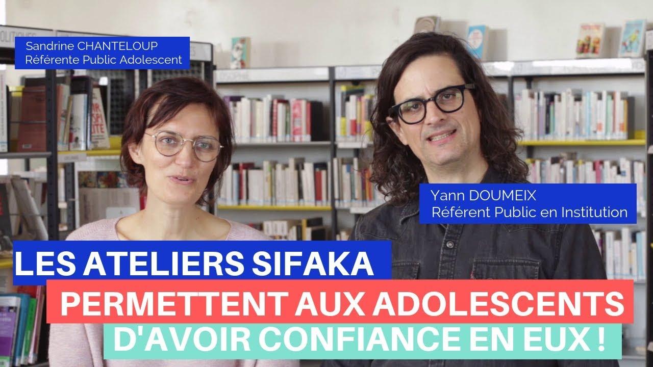 Les Ateliers Sifaka : Sandrine et Yann - Bibliothécaires (Médiathèques de Choisy-Le-Roi)