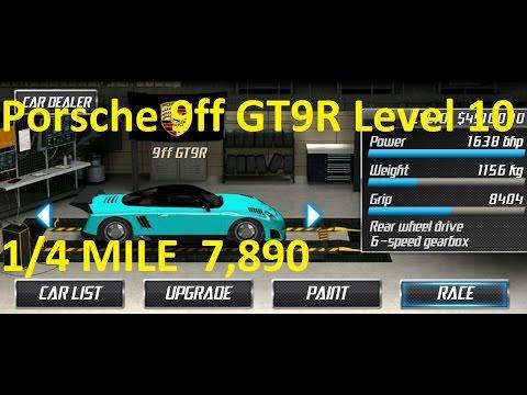 Drag Racing Porsche 9ff GT9-R Level 10 Tune 7,890 1/4 Mile