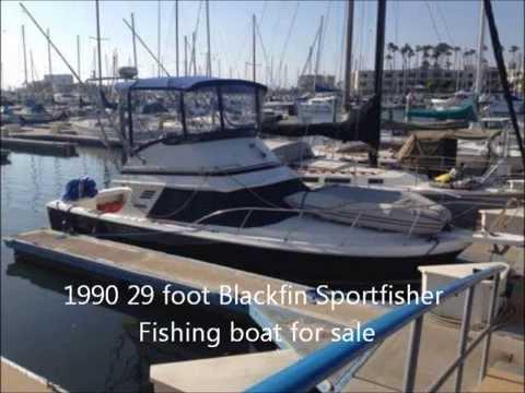 1990 29 foot Blackfin Sportfisher Fishing boat for sale. $39,000. Marina Del Ray, CA.