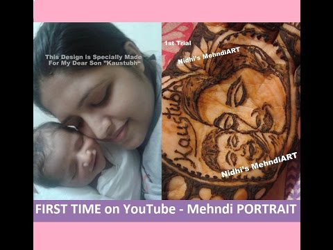 FirstTime on Youtube- Portrait Mehndi Design Tutorial- First Trial By Nidhi's MehndiART