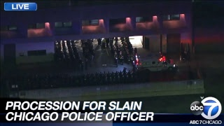 PROCESSION FOR SLAIN CHICAGO POLICE OFFICER