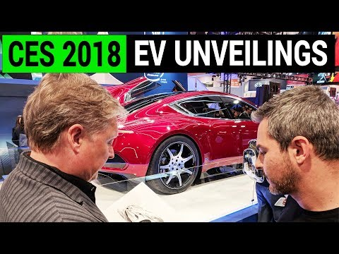 New Electric Car Unveilings at CES 2018: from Fisker to Byton