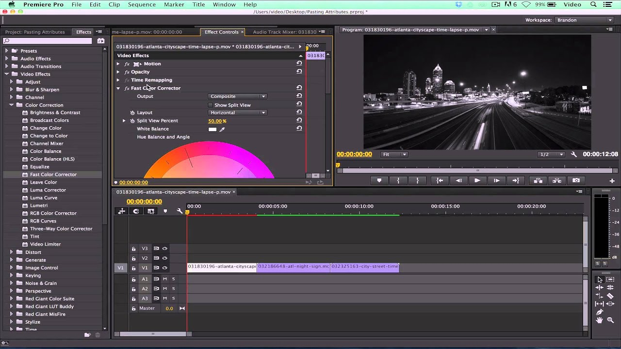 adobe premiere pro cc14 how to copy and paste attributes youtube