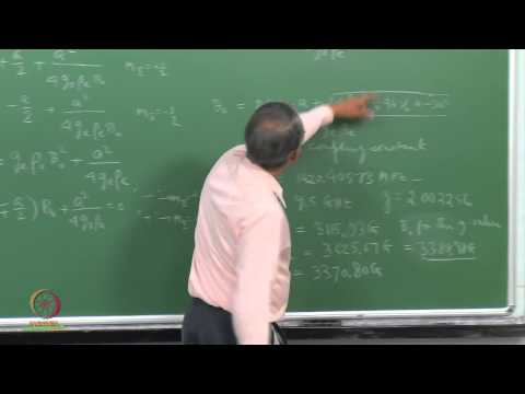 Mod-01 Lec-18 Second-order Effects on EPR Spectra