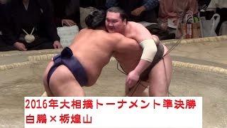 2016年第40回大相撲トーナメント準決勝 白鵬×栃煌山戦.