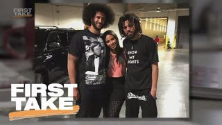 First Take Reacts To Rapper J. Cole Supporting Colin Kaepernick   First Take   ESPN