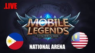 Malaysia vs Philippines National Arena & Rank Game | MOBILE LEGENDS