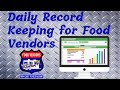 How to Record Your Daily Food Vending Sales with Excel (Free Spread Sheet Download)