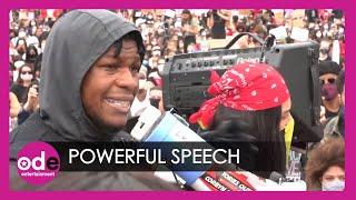 John Boyega's POWERFUL Anti-Racism Speech at George Floyd Protest in London