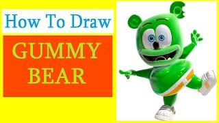 How to Draw a Gummy bear / Как нарисовать Мишку Гамми