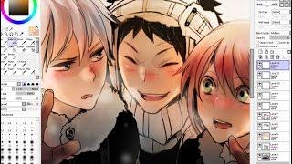 Akagami no Shirayukihime Speedpaint on SAI - Zen, Obi & Shirayuki