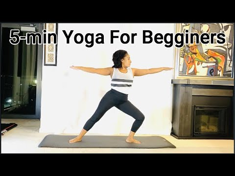 yoga for beginners  5 minute home yoga workout  youtube
