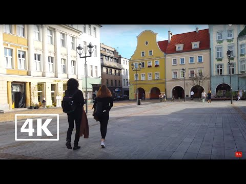 Walking Around In Gliwice, Poland (City Sounds) 4K Ambience ASMR
