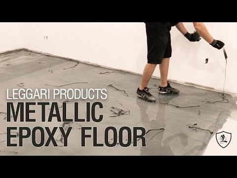 Massive Metallic Epoxy Resin Floor | New Construction!