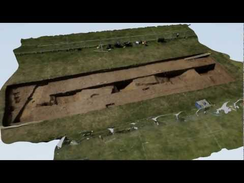 Slower animation of 3D model of excavation at Caistor Roman Project