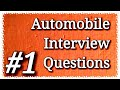 🔴 automobile engineering internship / Interviewe Questions answer for fresher / experienced part#1