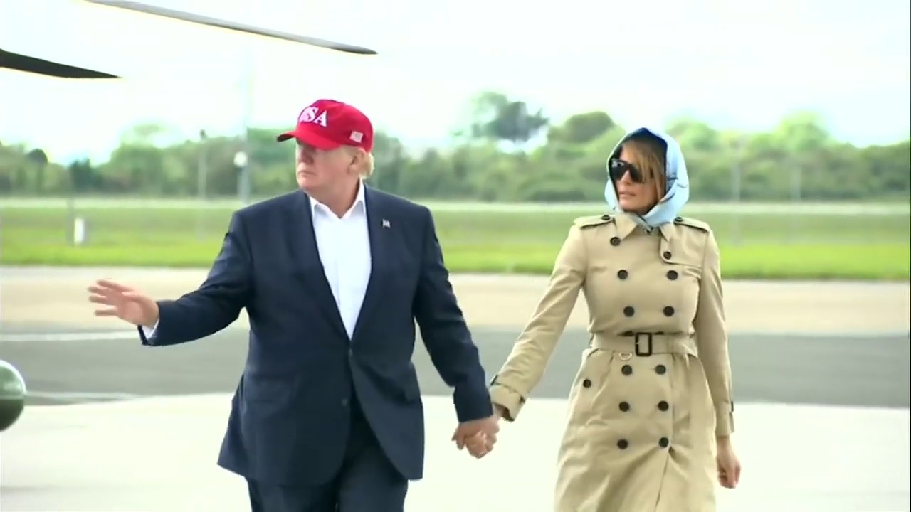 BACK TO USA: President Trump and Melania Trump Wrap Up European Visit