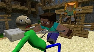 Baldi's basics ragdolls.Baldi in Minecraft [2] Baldi fighting with Steve and Alex? by Cpt.Ragdoll