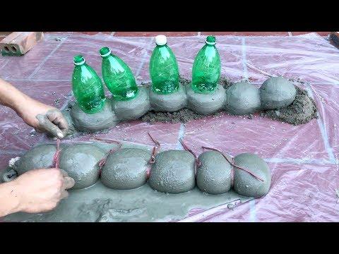 DIY -❤️ CEMENT CRAFT IDEAS ❤️- Two Giant Caterpillar Have Eaten My Garden - Creative cement ideas