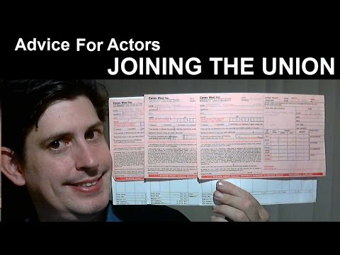 Advice For Actors - Joining the Union (SAG-AFTRA) - YouTube