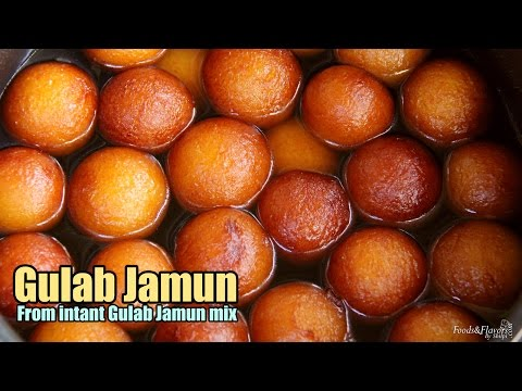 Gulab Jamun Recipe / Instant Gulab Jamun from mix(Gits, Mtr) - How to make Perfect Gulab Jamun