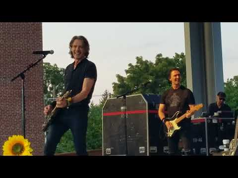 Rick Springfield Indiana State Fair August 2018 front row. . He messes up at the end... super cute!