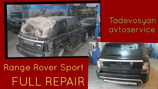 Кузовной ремонт в Армении RANGE ROVER