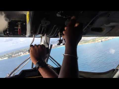 Landing St.Marteen after Irma 2017 in Cockpit Maho Beach