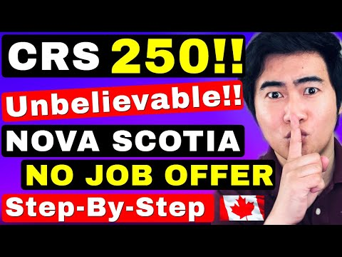 LOWEST CRS SCORE EVER INVITED!! NOVA SCOTIA PNP EXPRESS ENTRY | CANADA IMMIGRATION