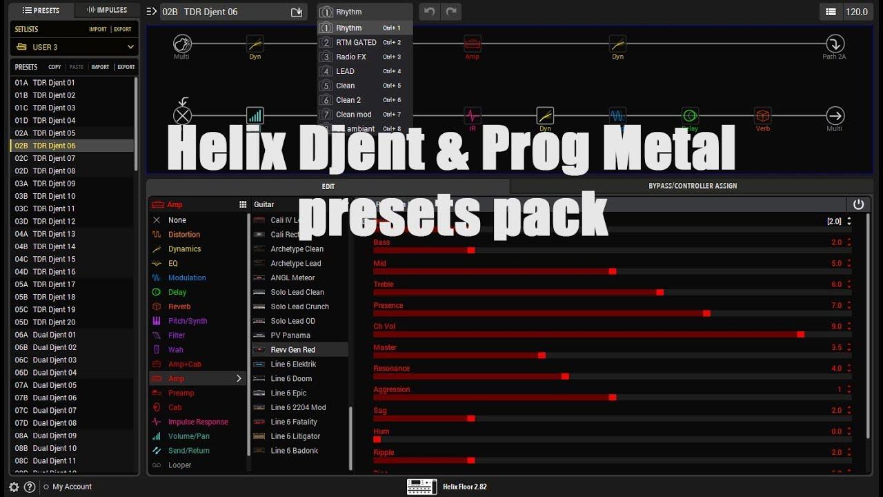 Helix Djent & Prog Metal Pack - Fremen Presets