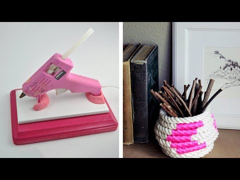 40 Awesome Hot Glue Gun Decor Ideas