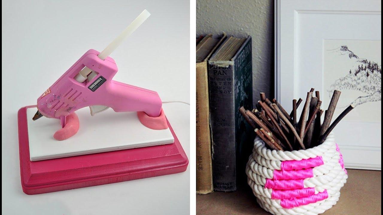 27 Awesome Hot Glue Gun Decor Ideas