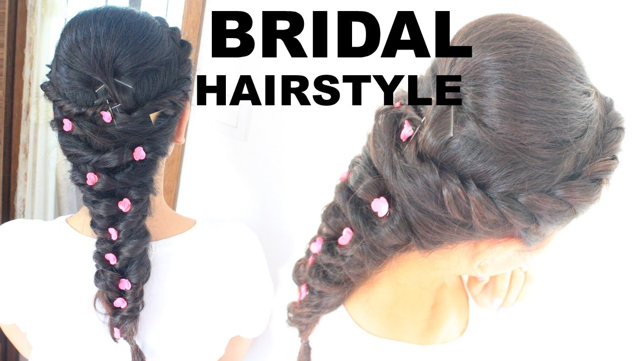 Easy Bridal hairstyle / party hairstyle for long and medium hair ...